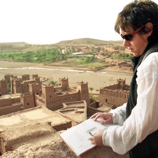 Cheryl Harrison Artist, Ait Benhaddou, Morocco, Cheryl Harrison artist, sketchbook, drawing, travel, notebook, journal, Gladiator,