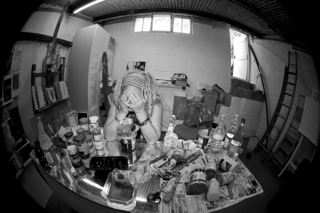 Cheryl Harrison Artist, Cheryl Harrison studio, Cheryl Harrison painter, St Ives Artist Studio, St Ives Artist, artist studio St Ives, Art in St Ives Cornwall.