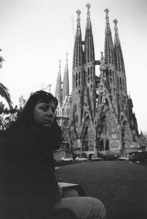 Sagrada Familia Barcelona Spain, sketchbook, drawing, travel, notebook, journal,