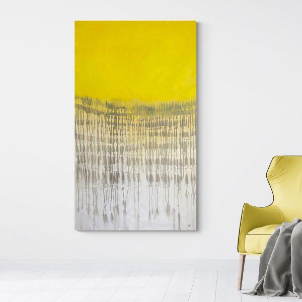 Cheryl Harrison - Imperfect Balance Grey & Yellow