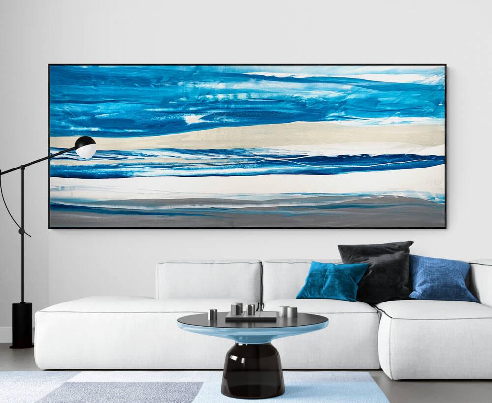 Crystal Blue - Cheryl Harrison Australian Painting